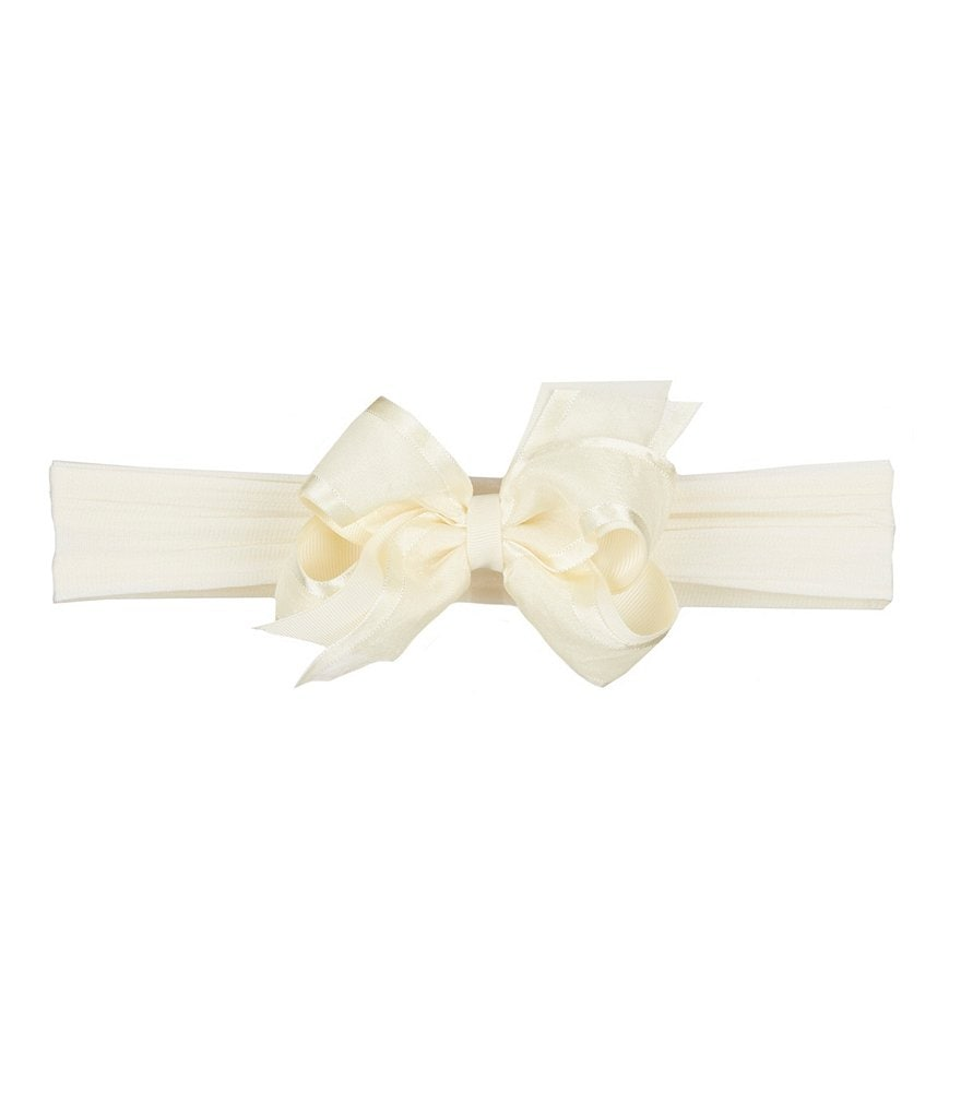 Starting Out Baby Girls Organza Overlay Bow Headband