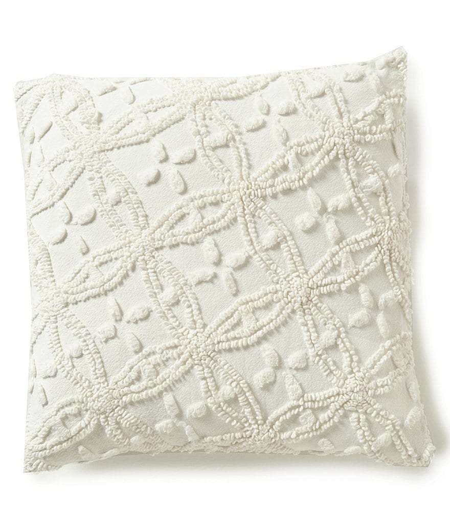 Pine Cone Hill Candlewick Vintage Cotton Square Pillow