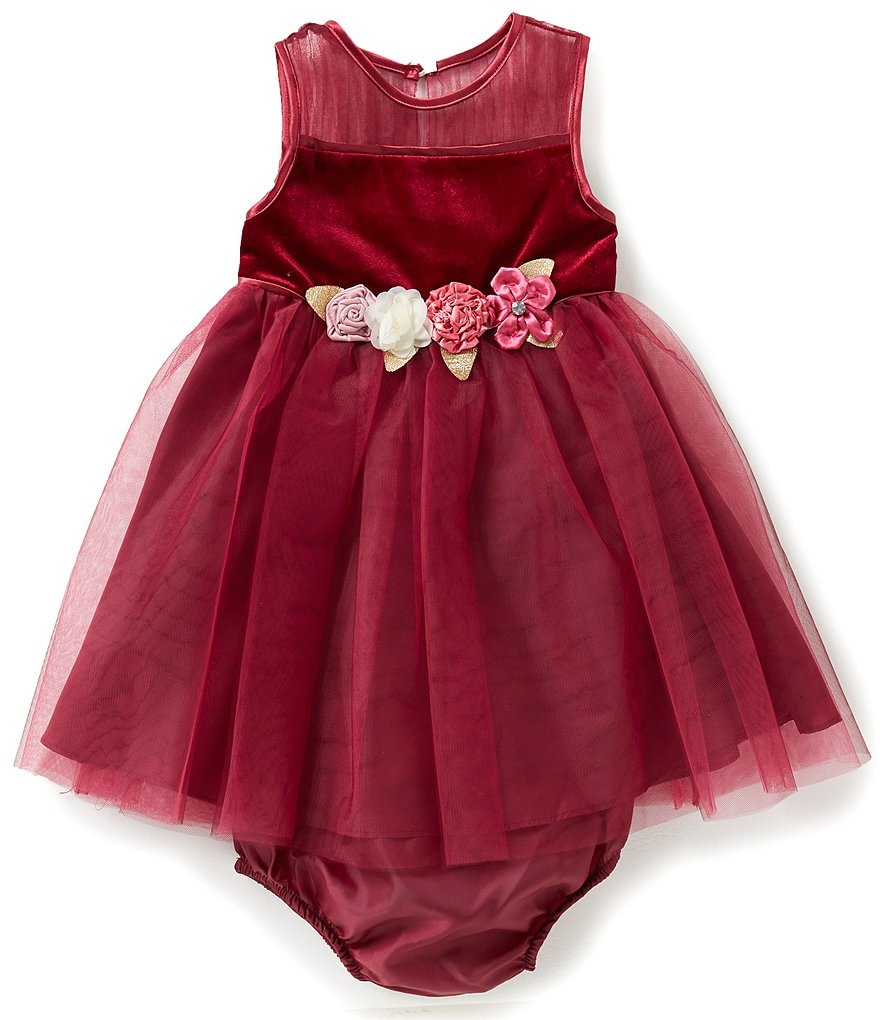 Rare Editions Baby Girls 12-24 Months Sleeveless Velvet-Bodice Dress