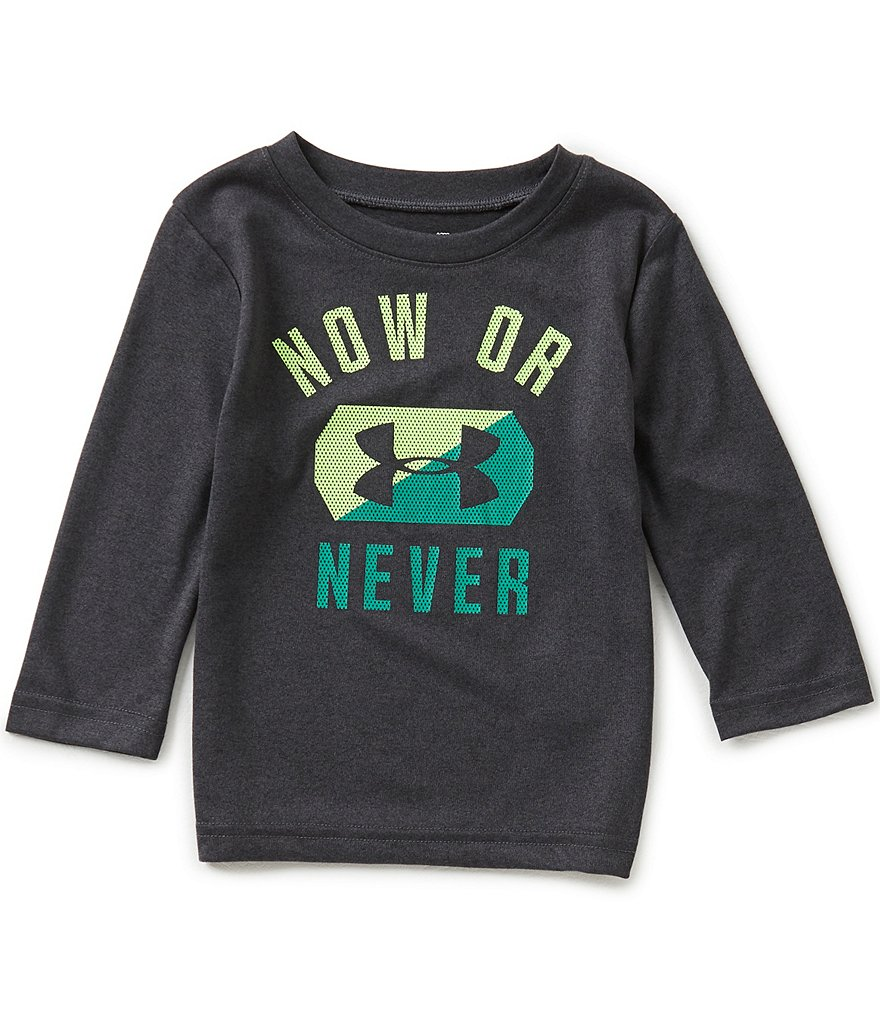 Under Armour Baby Boys 12-24 Months Now Or Never Long-Sleeve Tee