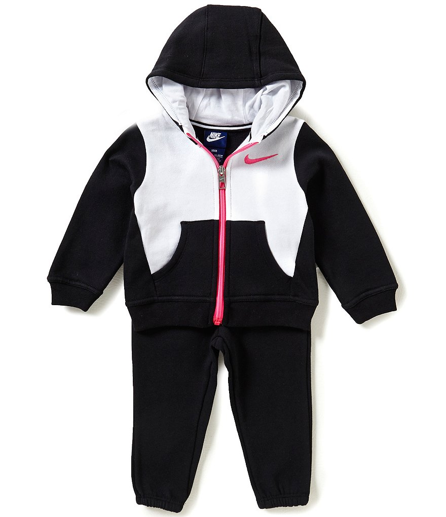 Nike Baby Girls 12-24 Months Core Fleece Color Block Jacket & Solid Jogger Pant Set
