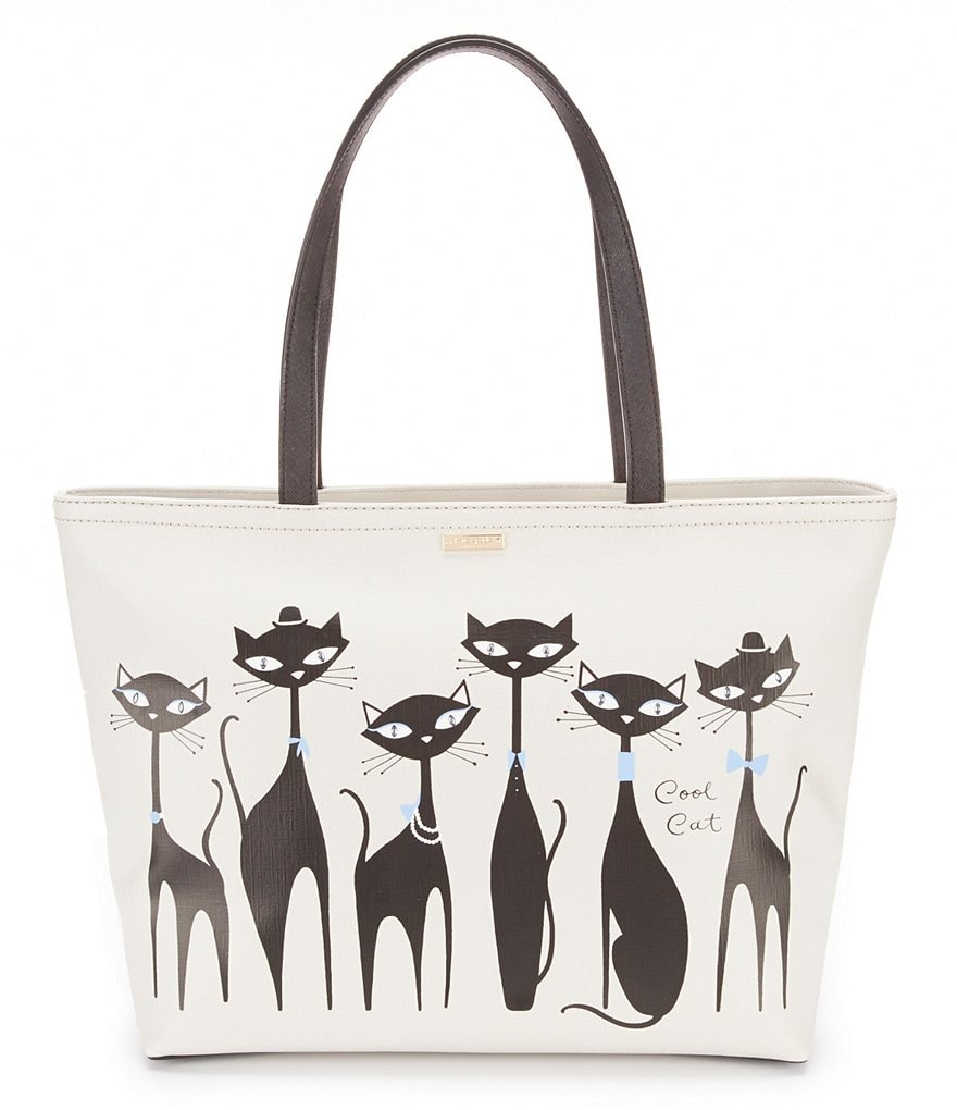 kate spade new york Jazz Things Up Collection Francis Cat-Print Tote