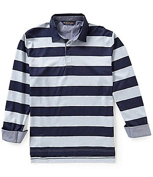 Brooks Brothers Stripe Gent Rugby Long-Sleeve Polo Shirt