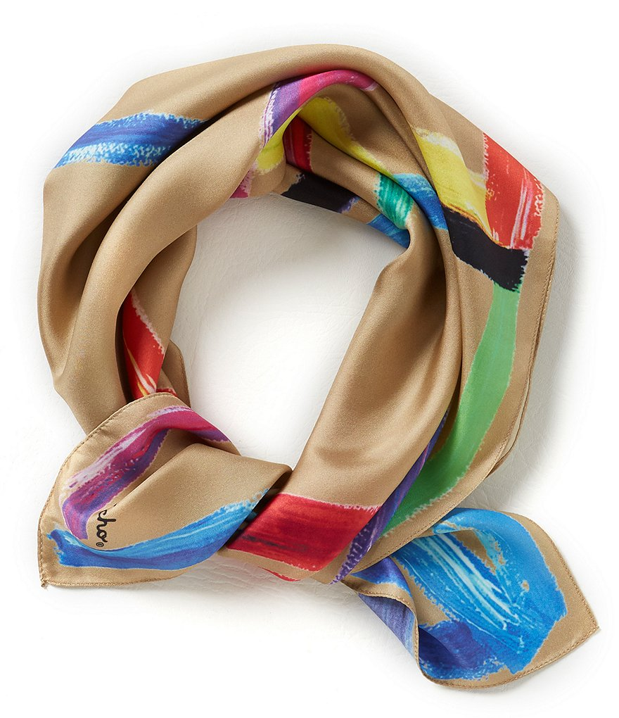 Echo Stroke of Daze Square Silk Scarf