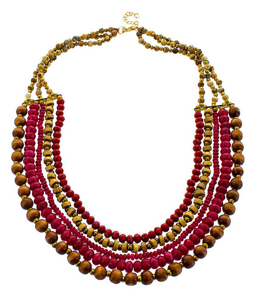 Panacea Berry Stone Statement Necklace