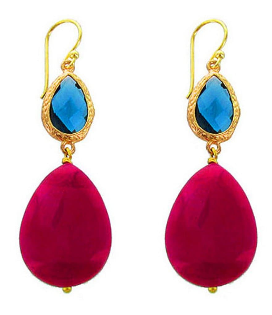 Panacea Agate Stone Drop Earrings