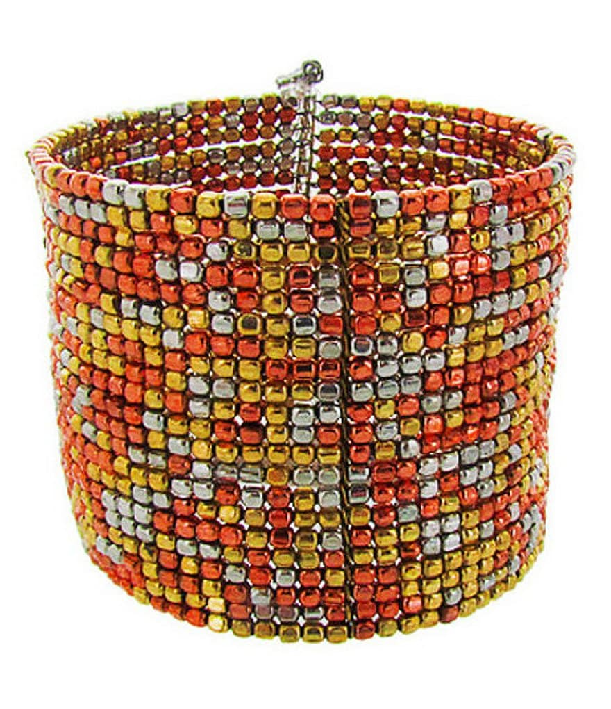 Panacea Mixed Metal Beaded Cuff