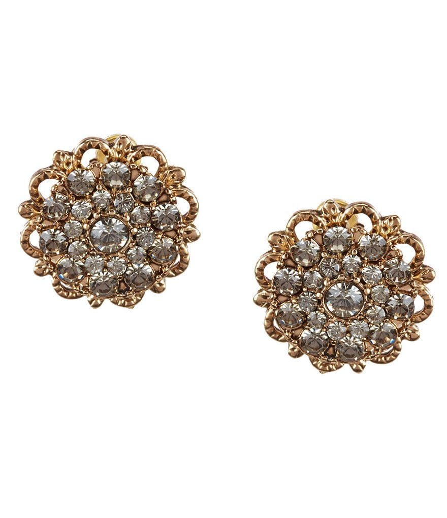 Natasha Accessories Flower Stud Earrings