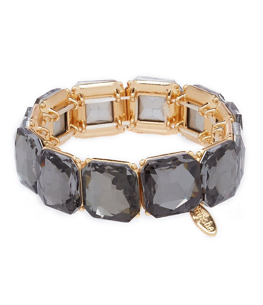 Natasha Accessories Cushion-Cut Stone Stretch Bracelet