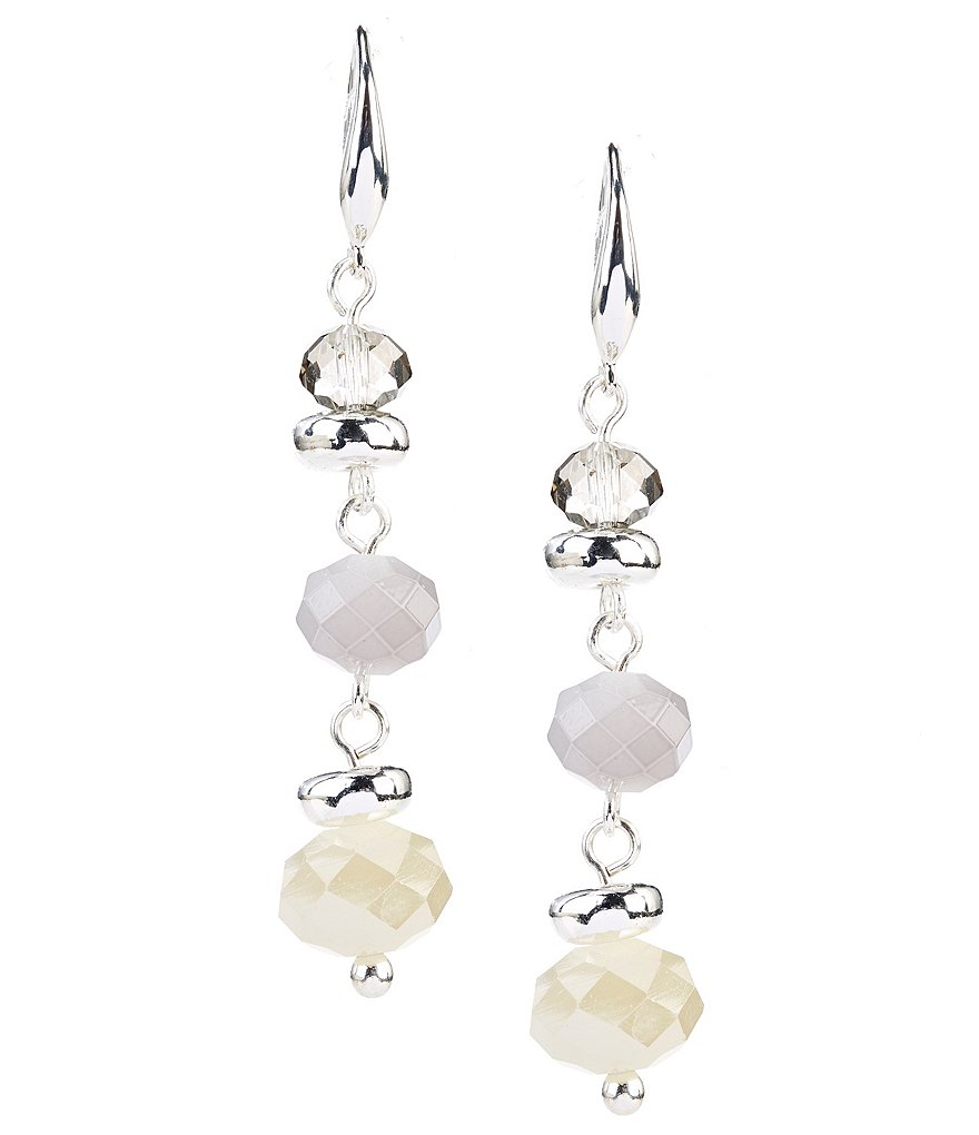Kennedy Row Beaded Linear Drop Earrings