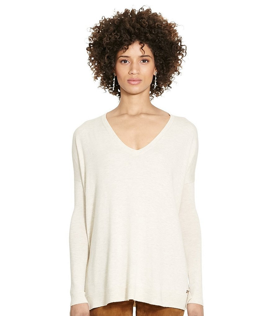 Polo Ralph Lauren Relaxed V-Neck Slouchy Sweater
