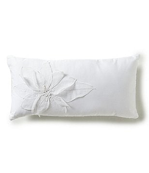 Barbara Barry Melody Floral-Appliqué Breakfast Pillow