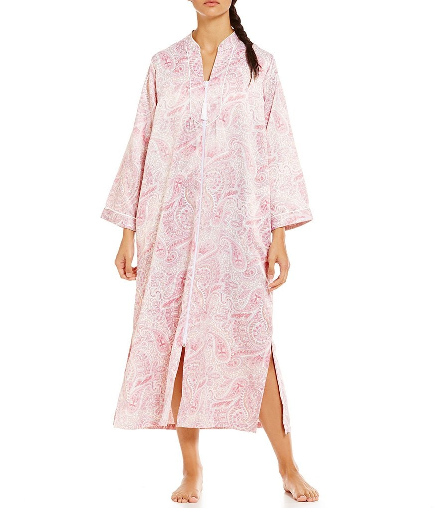 Miss Elaine Paisley Satin Robe