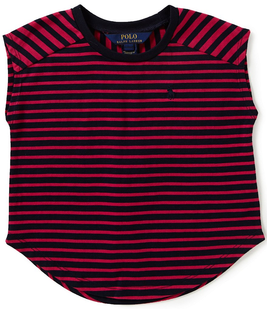 Ralph Lauren Childrenswear Little Girls 2T-6X Mixed-Stripe Knit Tee