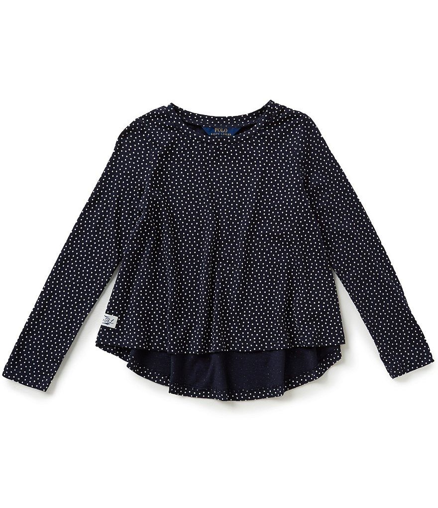 Ralph Lauren Childrenswear Little Girls 2T-6X Long-Sleeve Printed Top