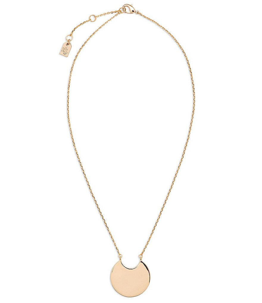 Lauren Ralph Lauren Fringe Worthy Crescent Pendant Necklace