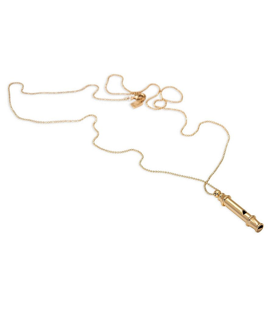 Lauren Ralph Lauren Fringe Worthy Whistle Pendant Necklace