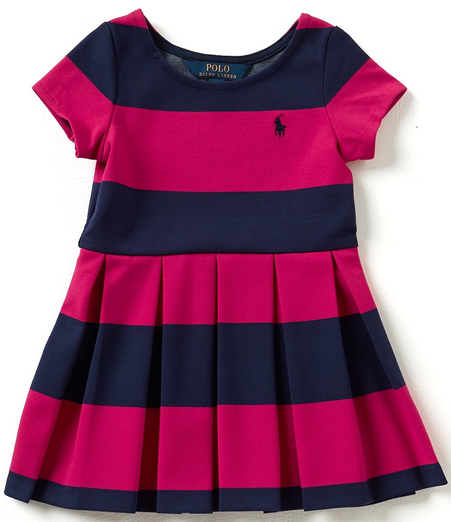 Ralph Lauren Childrenswear Little Girls 2T-6X Wide-Stripe Ponte Skater Dress