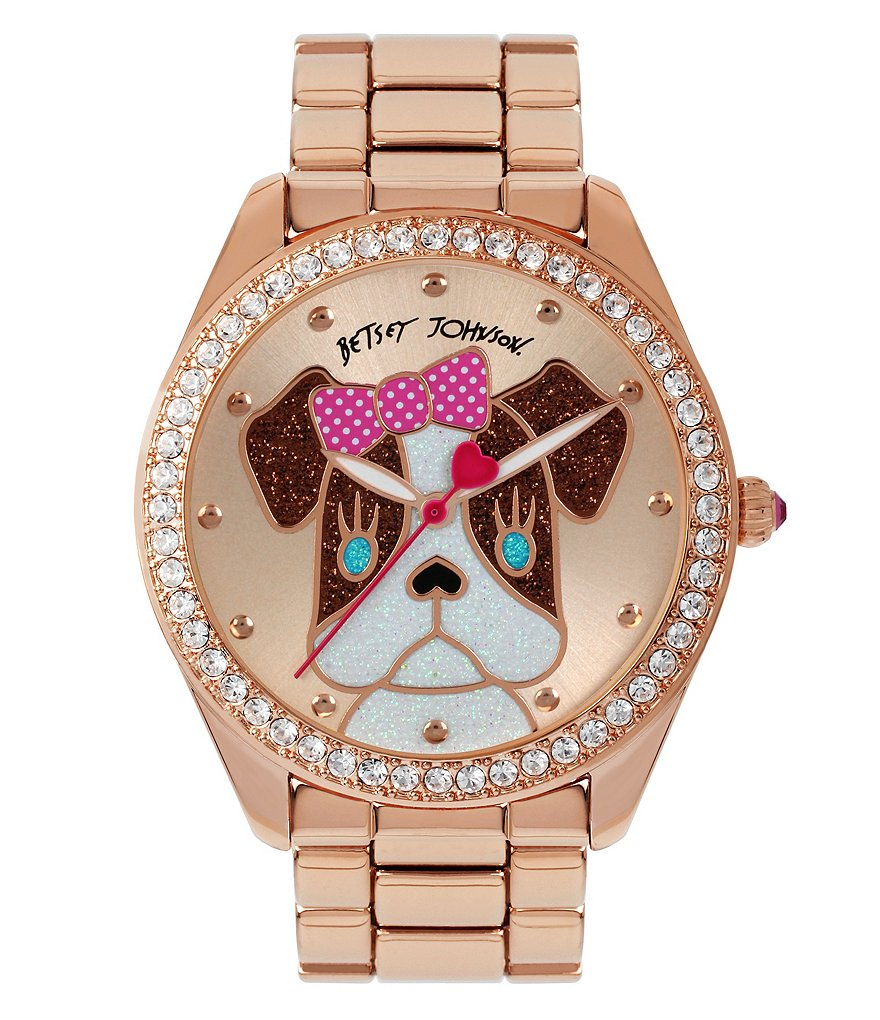 Betsey Johnson Exclusive French Bulldog Analog Bracelet Watch
