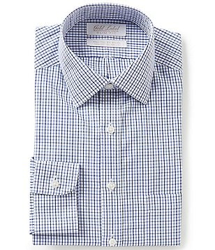 Gold Label Roundtree & Yorke Non-Iron Slim-Fit Spread Collar Check Dress Shirt