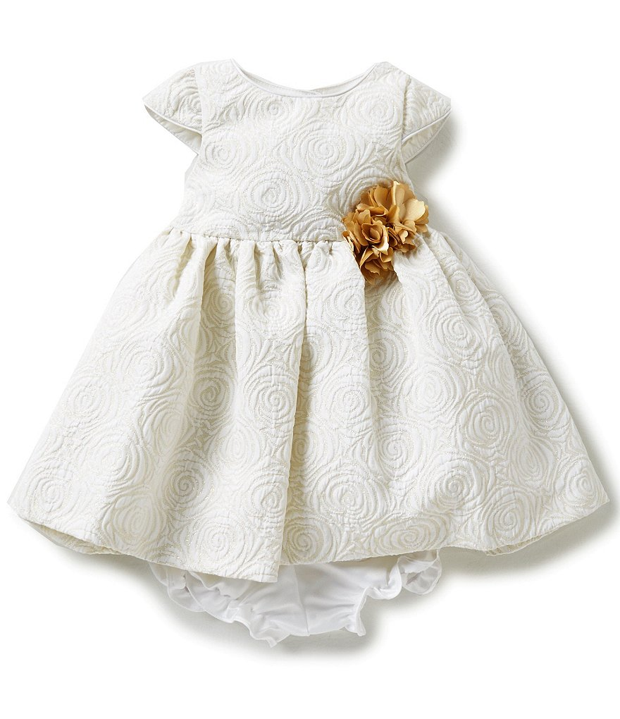 Pippa & Julie Baby Girls 12-24 Months Brocade Dress