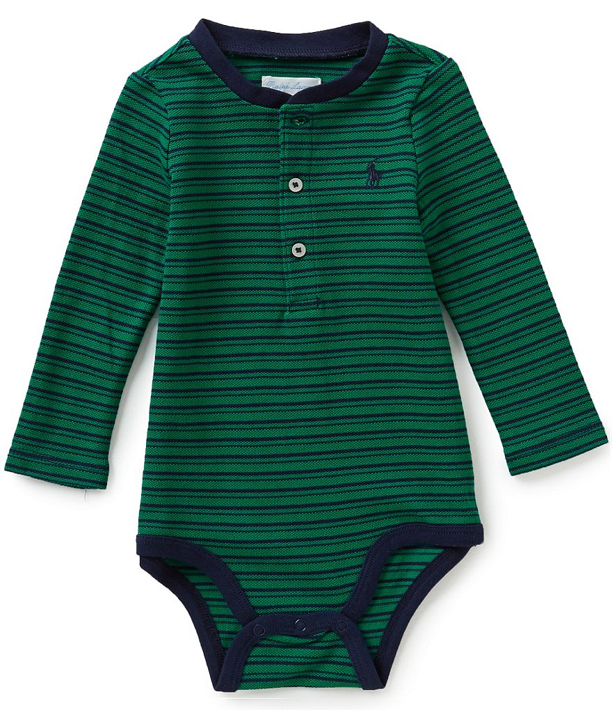 Ralph Lauren Childrenswear Baby Boys 3-12 Months Striped Bodysuit