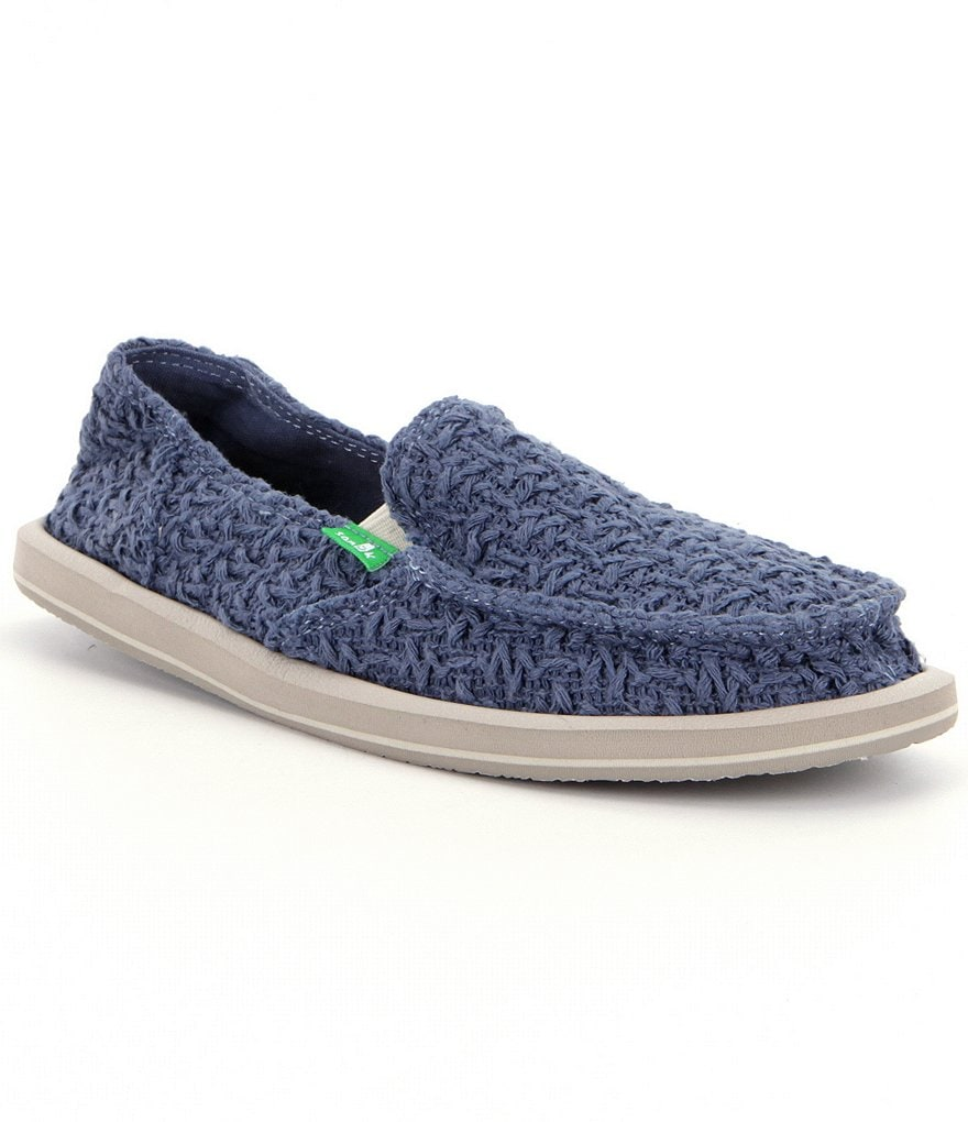 sanuk womens donna knit slip on shoes dillards