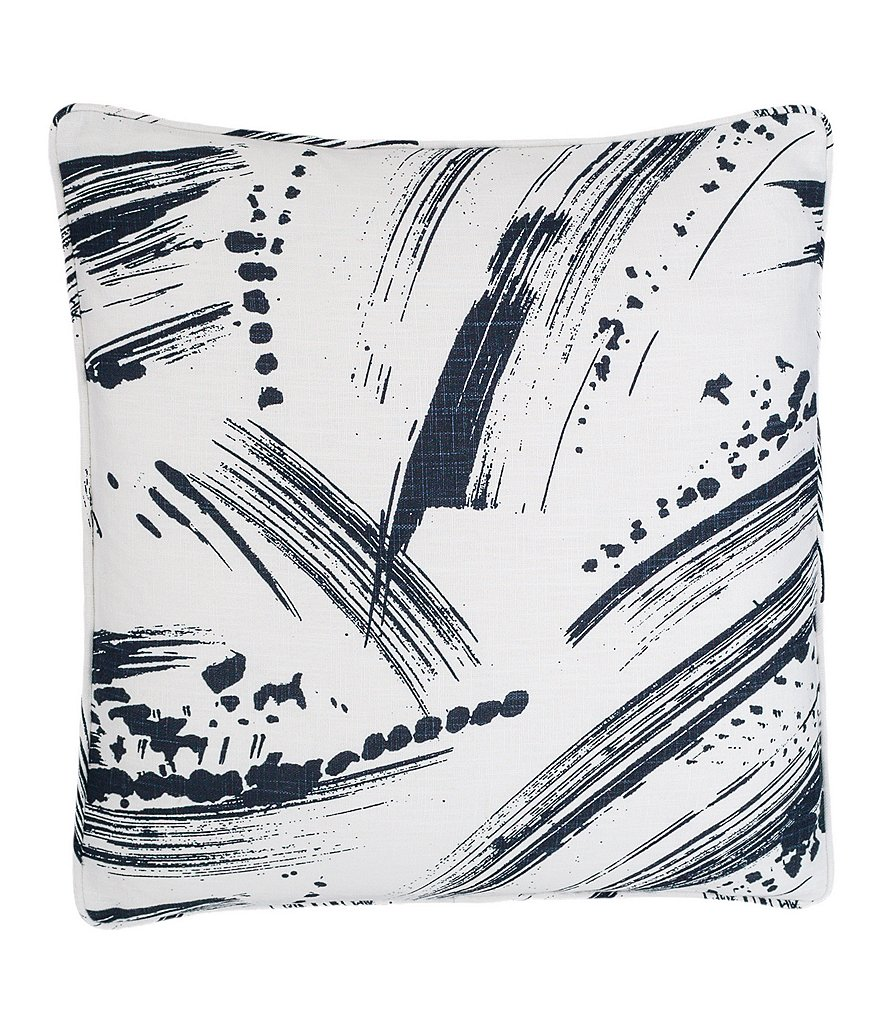 Pine Cone Hill Brushstroke Square Feather Pillow