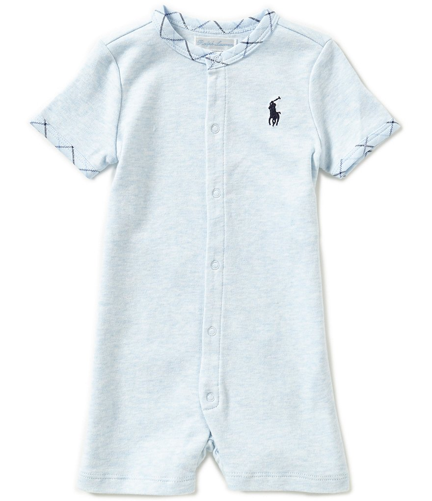 Ralph Lauren Childrenswear Baby Boys 3-24 Months Plaid-Trimmed Shortall