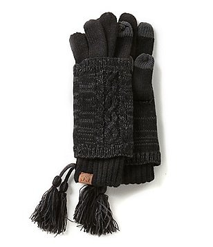 C.C. Beanies Marled Yarn Two-Piece Touch Gloves