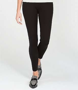 Spanx Velvet-Paneled Ponte Leggings