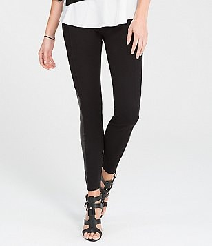 Spanx Perforated Faux-Leather-Paneled Leggings