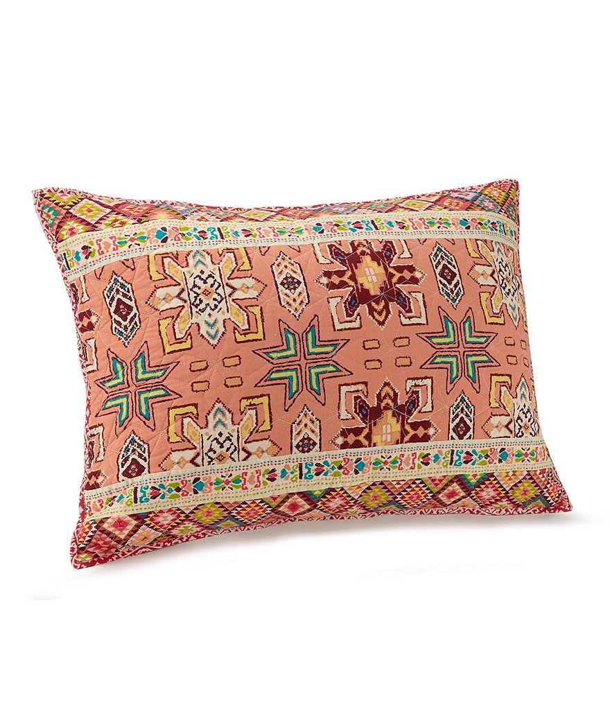 Jessica Simpson Tika Quilted Tribal Patchwork Sham
