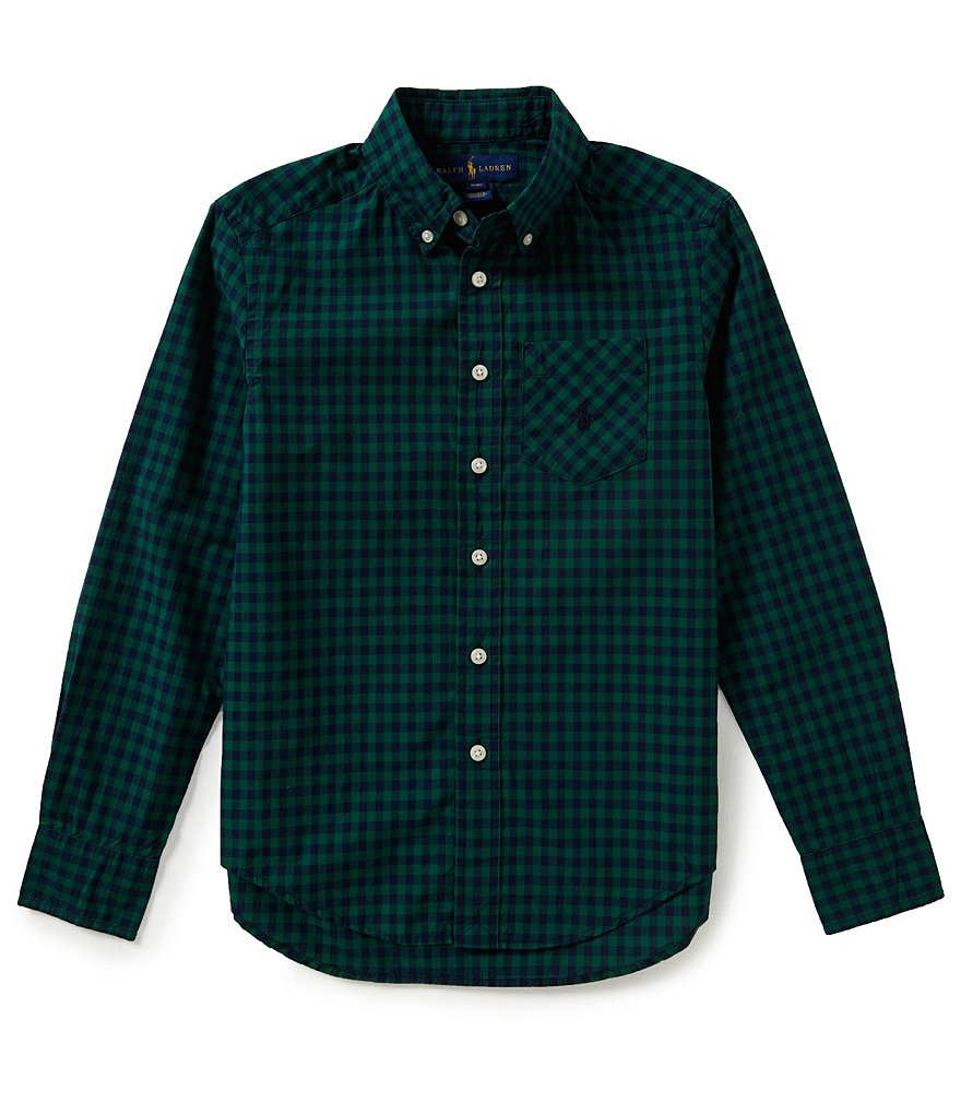 Ralph Lauren Childrenswear Big Boys 8-20 Gingham Poplin Shirt