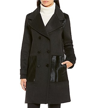 Zac Posen Hawthorne Double Breasted Tailored Wool Coat