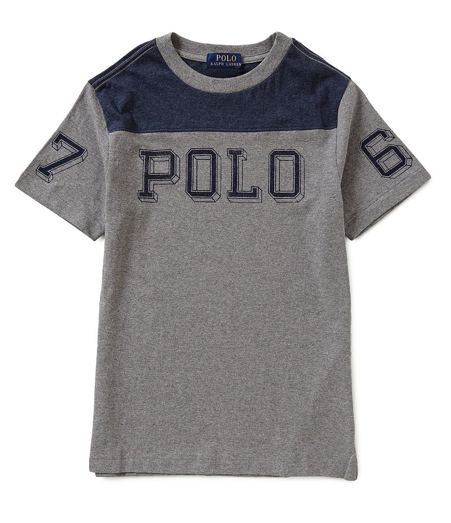 Ralph Lauren Childrenswear Big Boys 8-20 Color Block Short-Sleeve Tee