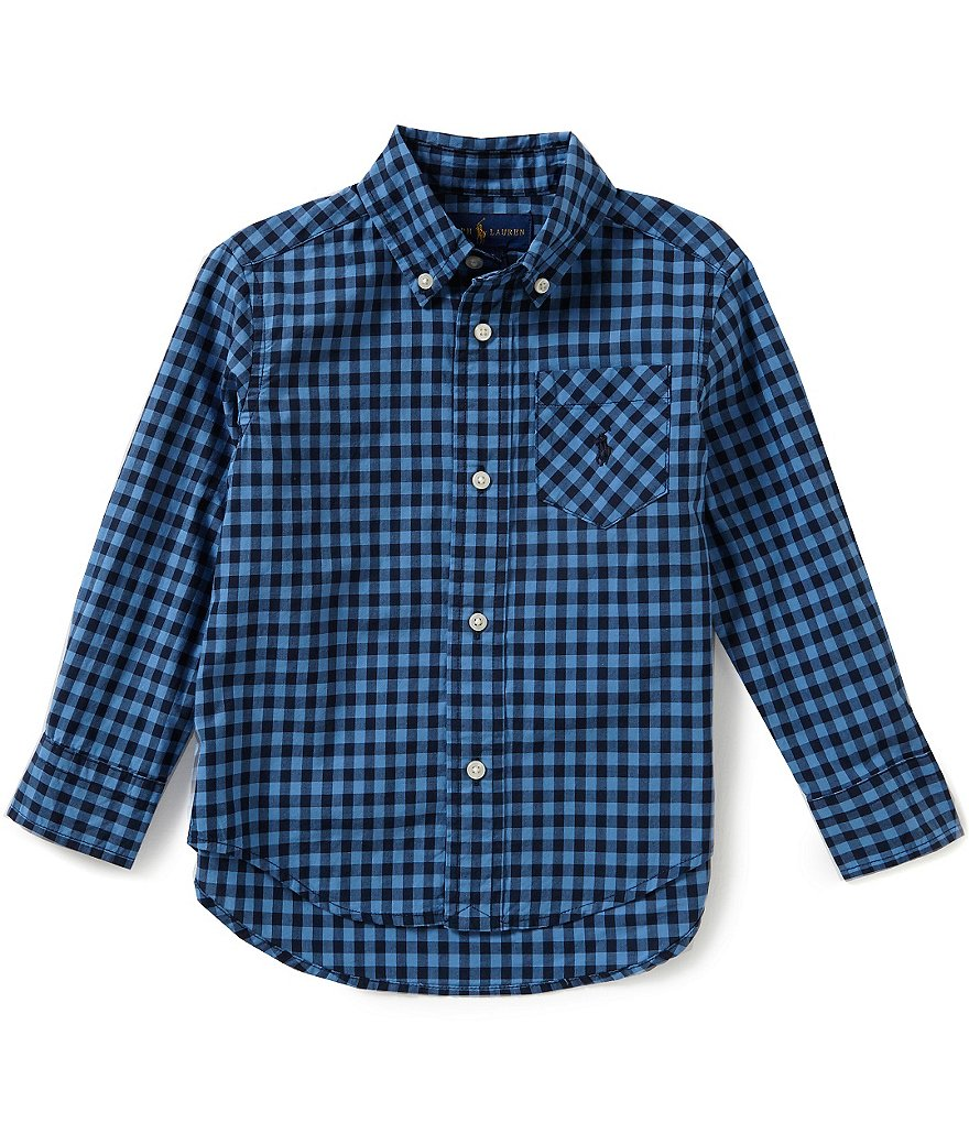 Ralph Lauren Childrenswear Little Boys 2T-7 Gingham Poplin Shirt