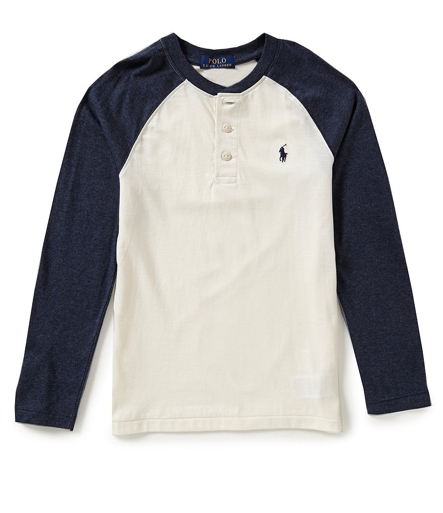 Ralph Lauren Childrenswear Big Boys 8-20 Color Blocked Henley Tee