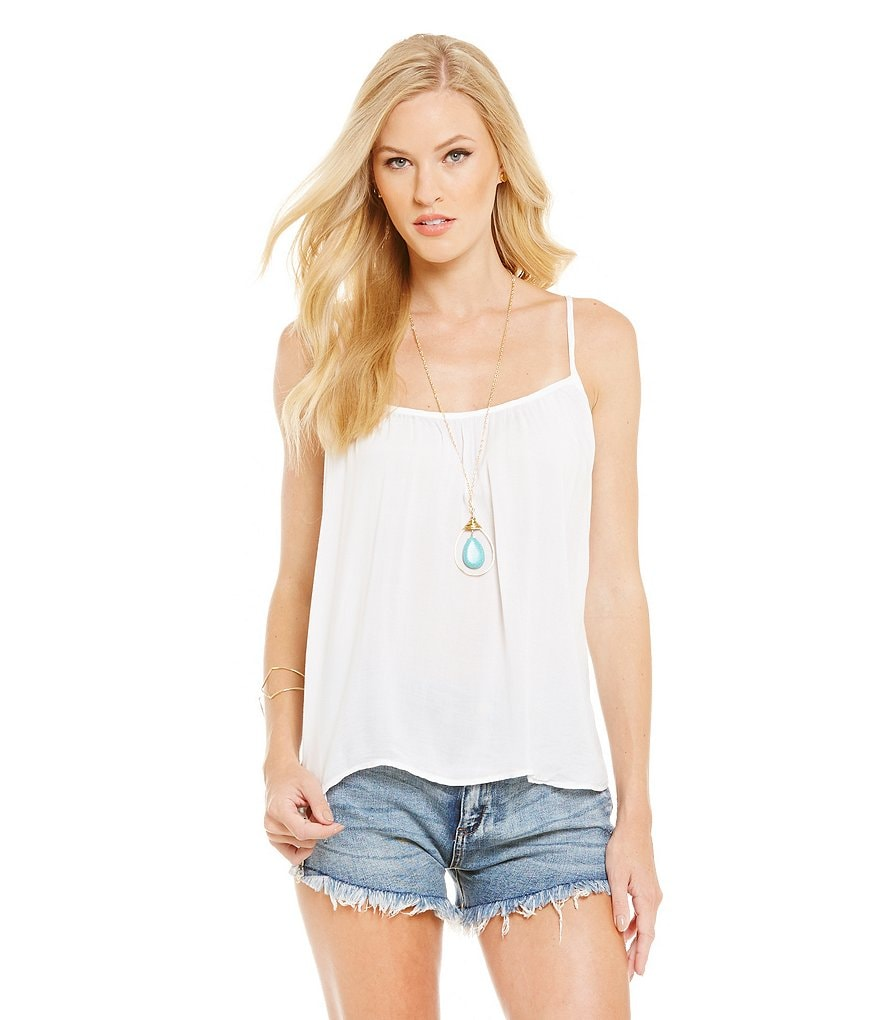 Chelsea & Violet Flowy Woven Cami Tank Top
