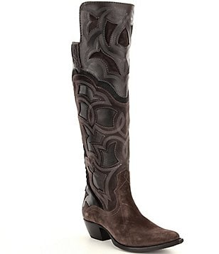 Frye Shane Embroidered Cuff Boots