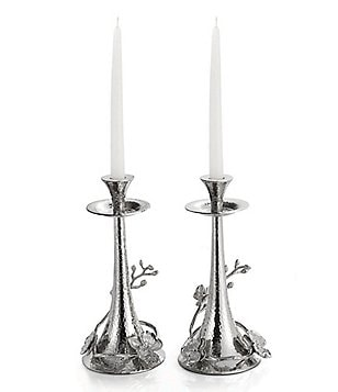 Michael Aram White Orchid Candleholders, Set of 2