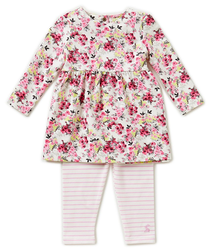Joules Baby Girls Newborn-18 Months Long-Sleeve Dress and Leggings Set