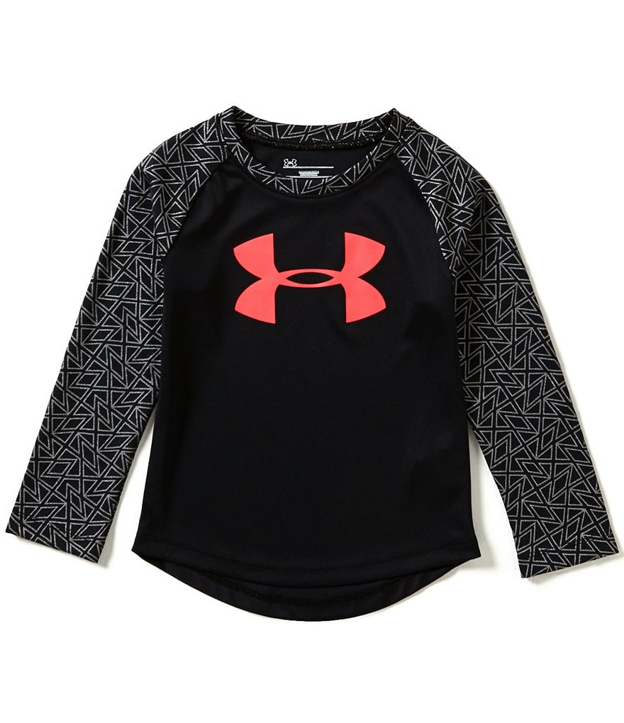 Under Armour Little Girls 2T-6X Chain Grid Raglan Tee