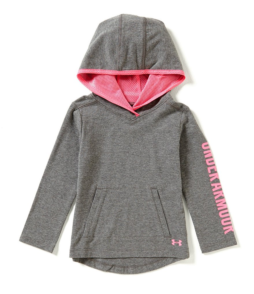 Under Armour Little Girls 2T-6X Tech Pullover Jersey Hoodie