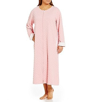 Carole Hochman Plus Embossed Diamond-Quilted Robe