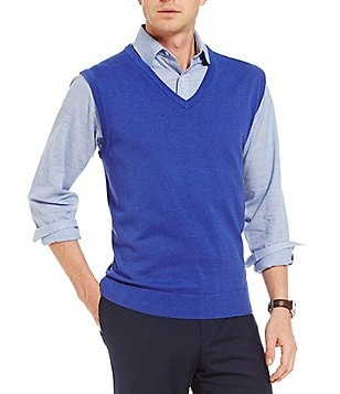 Daniel Cremieux Signature Solid Supima V-Neck Sweater Vest