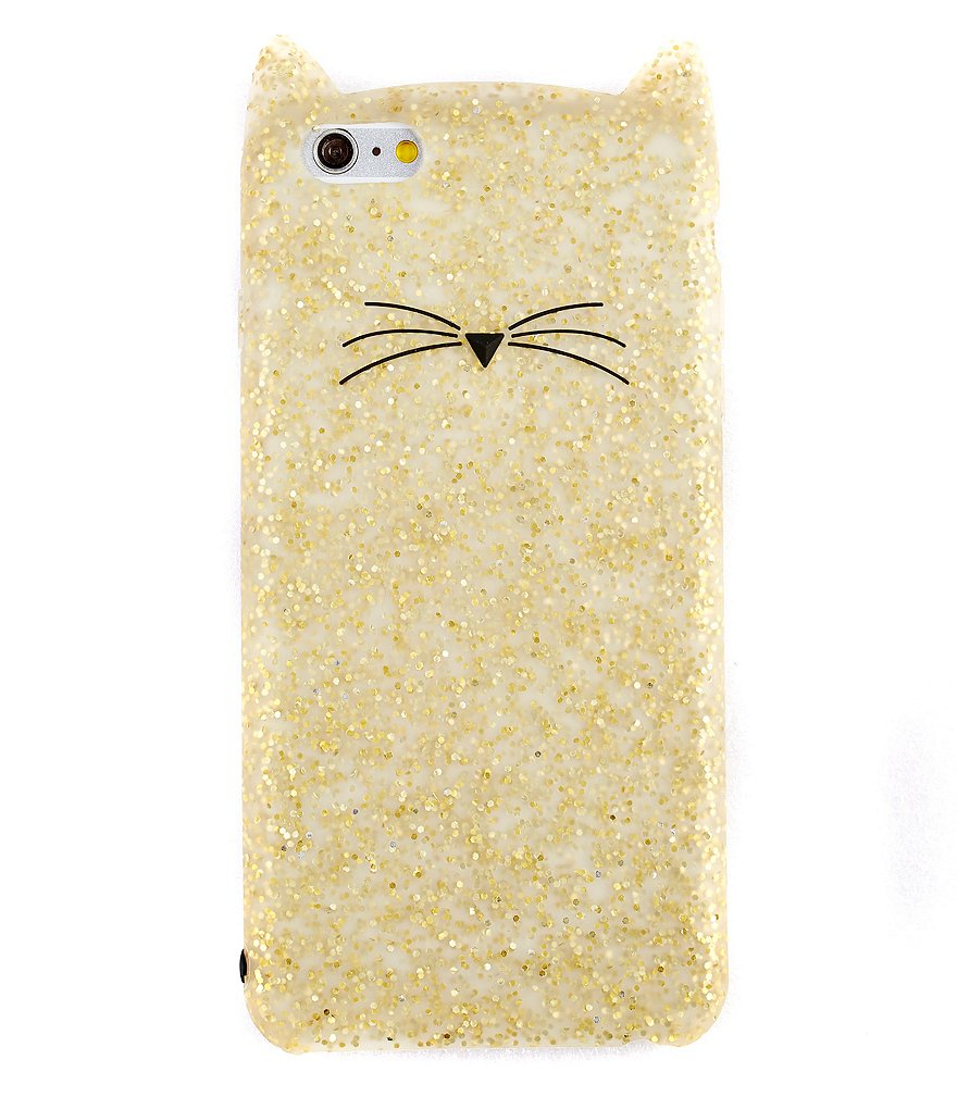 kate spade new york Glitter Cat iPhone 6/6s Plus Case