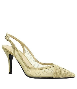J. Renee Savina Sling Pumps