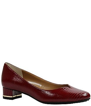 J. Renee Bambalina Lizard Print Patent Leather Pumps