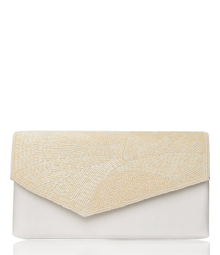 Nina Asymmetrical Beaded Stand-Up Clutch